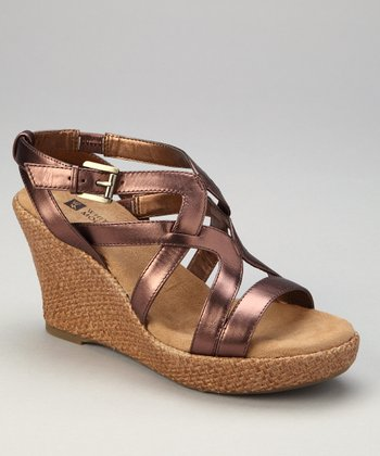 Chocolate Metallic Okay Espadrille