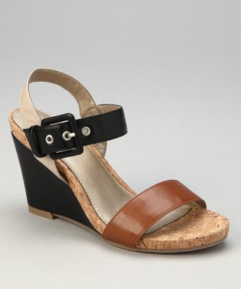 Tan Patent Triumph Wedge