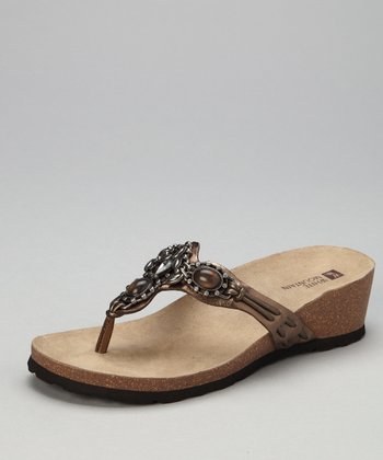 Bronze Beaded Cardenia Sandal