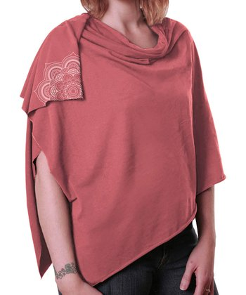 Coral Nursing Shawl