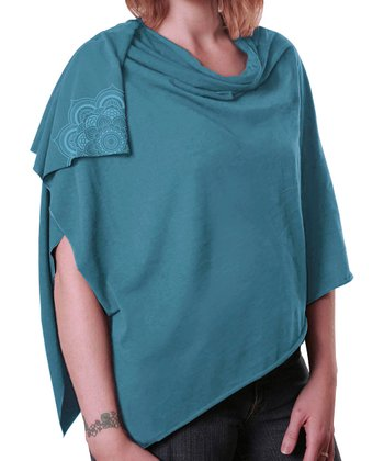 Robin Egg Blue Nursing Shawl
