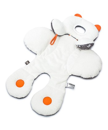 White & Orange Total Body Support Pillow