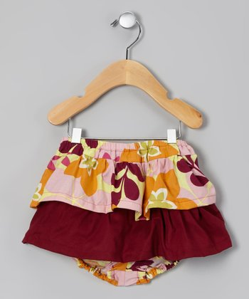 Burgundy Candie Skirted Diaper Cover
