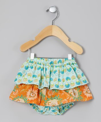 Orange Candie Skirted Diaper Cover
