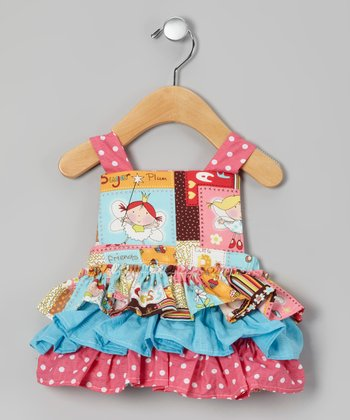 Brown & Pink Fairy Princess Dress - Infant