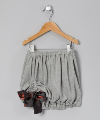 Gray & Black Leland Bubble Skirt - Toddler