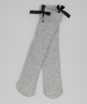 Gray & Black Leland Knee-High Socks