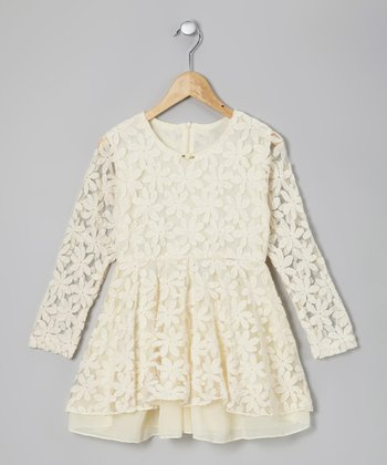 Ivory Miss Winnie Lace Dress - Toddler & Girls