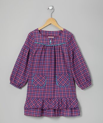 Purple Rad in Plaid Dress - Toddler & Girls
