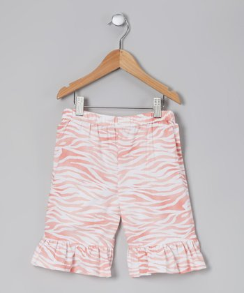 Pink Zebra On the Prowl Shorts - Toddler & Girls