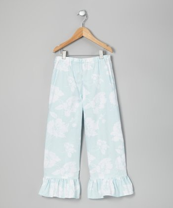 Blue Boho Pants - Toddler & Girls