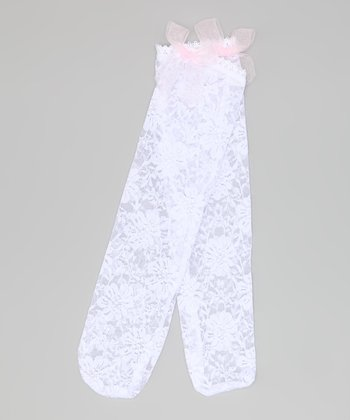 White Lace Knee-High Socks