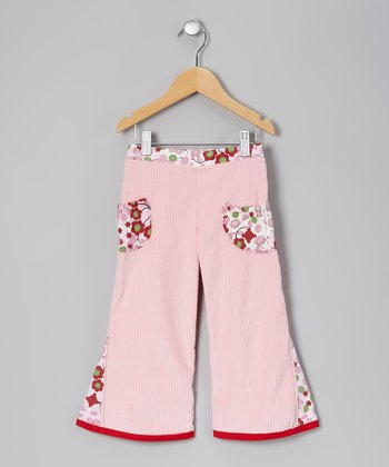 Pink & Red Apple Orchard Pants - Toddler & Girls
