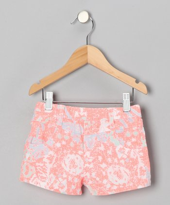 Peach & Blue Rose Shorts - Infant, Toddler & Girls