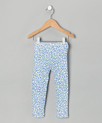Blue Cheetah Leggings - Toddler & Girls