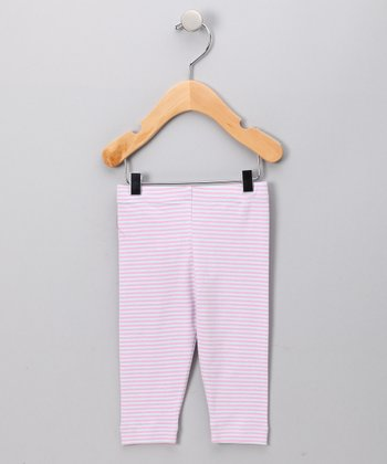 Pink & Periwinkle Simone Stripe Leggings - Toddler
