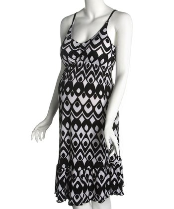 Black & White Cha-Cha Maternity Dress