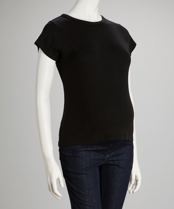 Black Maternity Short-Sleeve Tee