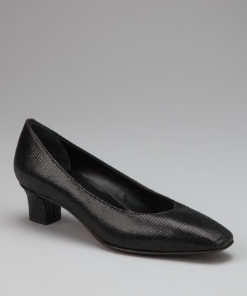 Black Tejus Leather Celyn Pump