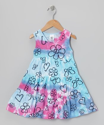 Blue Tie-Dye Jayden Dress - Infant & Toddler