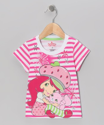 Pink Stripe Strawberry Shortcake Tee - Toddler