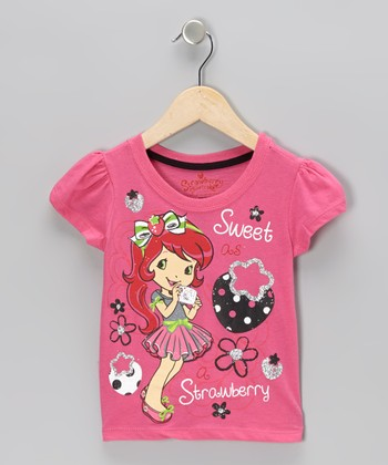 Pink Strawberry Shortcake Cap-Sleeve Tee - Toddler