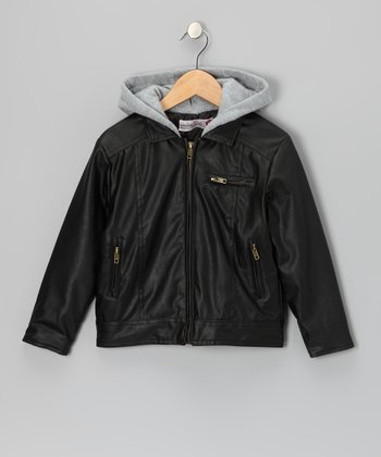 Black Maverick Jacket - Toddler & Boys
