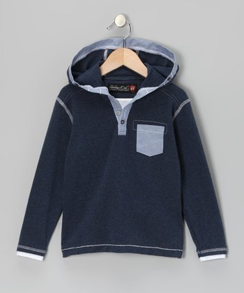 Navy Ralphie Hoodie - Infant & Toddler
