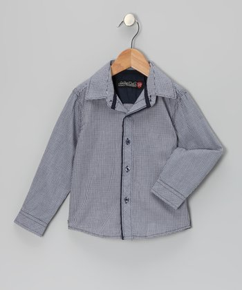 Navy Clyde Button-Up - Toddler