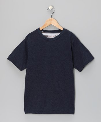 Navy Crewneck Tee - Boys