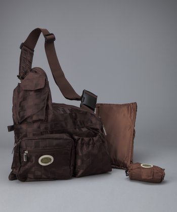 Brown Baby Metro Crossbody Bag Set