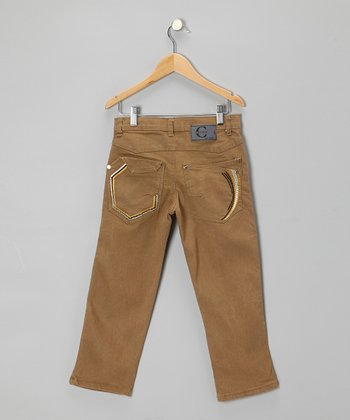 Khaki Straight-Leg Jeans - Toddler & Boys