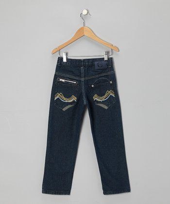 Medium Blue Straight-Leg Jeans - Toddler & Boys