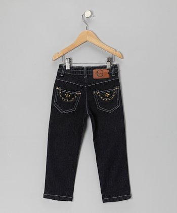 Dark Denim Straight-Leg Jeans - Toddler & Girls