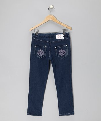 Medium Blue Skinny Jeans - Girls