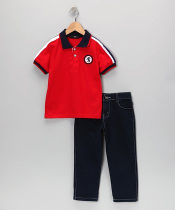 Red Dragon Polo & Jeans - Infant, Toddler & Boys