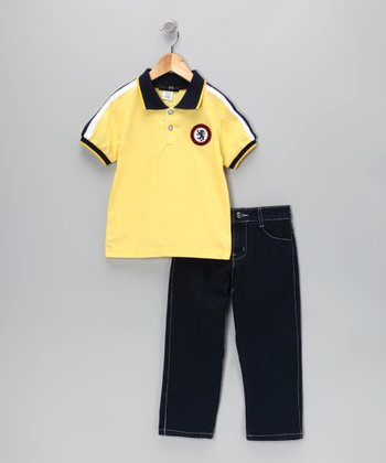 Yellow Dragon Polo & Jeans - Infant, Toddler & Boys