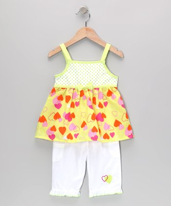 Lime Heart Tunic & Pants - Infant