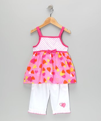 Pink Heart Tunic & Pants - Infant
