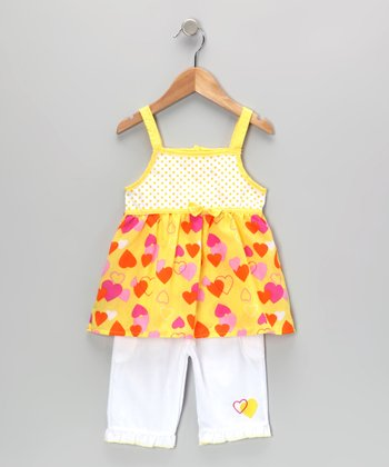 Yellow Heart Tunic & Pants - Infant