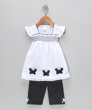 Black Butterfly Tunic & Leggings - Infant & Toddler