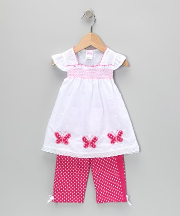 Pink Butterfly Tunic & Leggings - Infant & Toddler