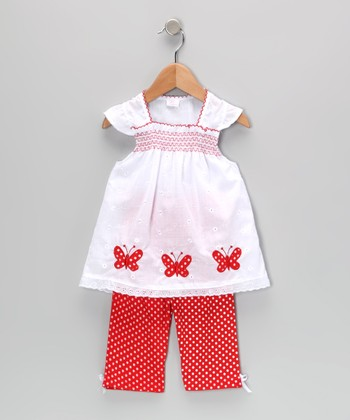 Red Butterfly Tunic & Leggings - Infant & Toddler