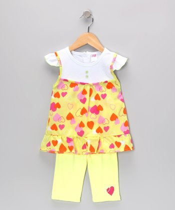 Lime Heart Layered Tunic & Leggings - Infant