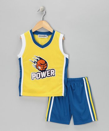 Yellow 'Power' Tank & Shorts - Infant