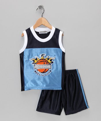 Blue 'Incredible' Basketball Tank & Shorts - Infant
