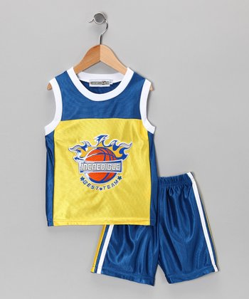 Yellow 'Incredible' Basketball Tank & Shorts - Infant