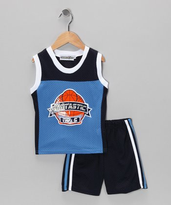 Blue Basketball Tank & Shorts - Infant