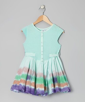 Green Lila Dress - Toddler & Girls