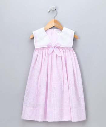 Light Pink Seersucker Sailor Dress